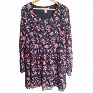 Forever 21 Contemporary Floral Flowy Dress Size L
